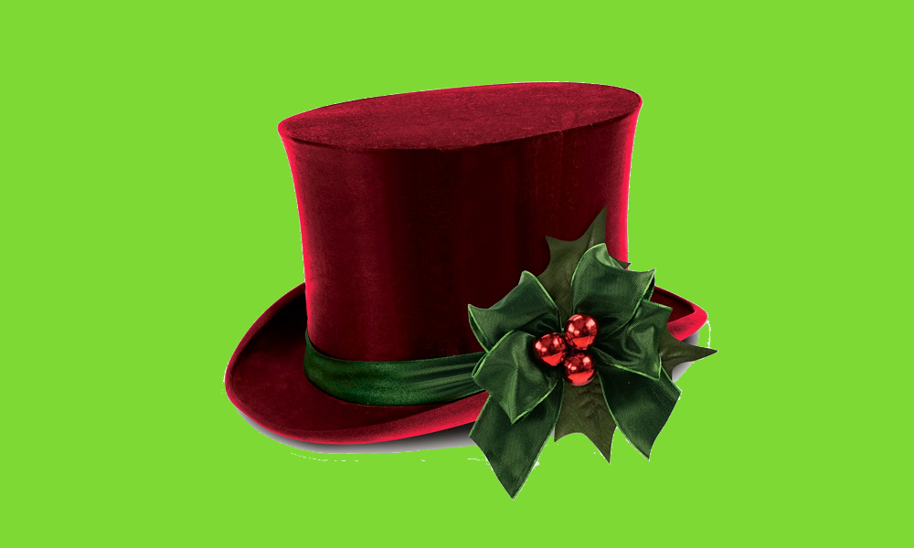 Scrooge's hat.